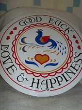 """CONESTOGA CRAFTS Hex Sign, 15"""" Good Luck, Love, & Happiness"""