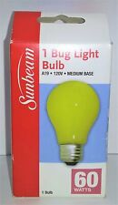 Sunbeam A19 Bug Light Bulb (60 Watts) Yellow C3939