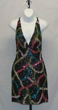 Scala Open Back Sequin Cocktail Party Dress Size 4