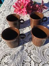 FIESTA 4 NEW CHOCOLATE dark brown  RING HANDLED MUGS 10-1/4 oz. MUG Fiestaware