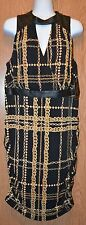 Womens Gold Chain Print Thalia Sodi Sleeveless Dress Size XL NWT NEW $89