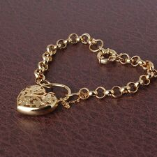 "Wedding jewelry !14K gold filled charms lady FASHION bracelet 7""19.7g"