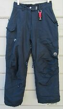 Powder Room Navy Insulated Ski Snow Board Pants Girls Youth Medium