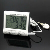 Mini Weather Station Digital Indoor Outdoor Thermometer Hygrometer Sensor Probe