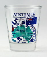 AUSTRALIA LANDMARKS AND ICONS COLLAGE SHOT GLASS SHOTGLASS