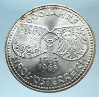 1963 AUSTRIA Tyrol and Austrian Shields Genuine Silver 50 Shilling Coin i78020