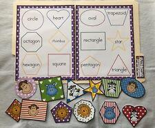 Shape Matching Kindergarten Math Centers File Folder Game Teacher Activity