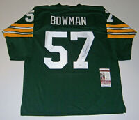PACKERS Ken Bowman signed custome green jersey w/ #57 JSA COA AUTO Autographed