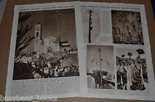 1937 TOTONAC INDIANS pole dance, British News magazine clippings, 3-pages