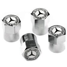 Chrome Mercedes Benz Wheel Valve Dust Caps. C180 C220 E-Class A180 etc