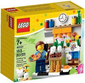 Brand New LEGO - Easter Egg Painting Scene - 40121 - Seasonal - Rare & Exclusive
