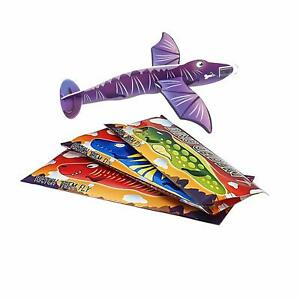 Dinosaur Toys Flying Plane Gliders Kids Party Bag Fillers Packs of 1-48 Gliders