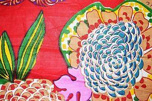 Indian Hand Fruit Print Cotton Fabric Natural Printed Handmade Sanganeri Vintage