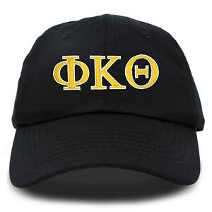 DALIX Phi Kappa Theta Greek Letters Ball Cap Embroidered Hat in Black