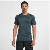 Nike Pro HyperCool Mens Short Sleeve Training Top Medium Dark Green Anti Odor