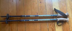 Pair Komperdell Trekking Hiking Poles Adjustable 105-140 cm aluminum cork handle