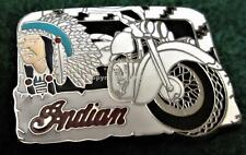 INDIAN MOTORCYCLES w/ CHIEF IN FULL HEADRESS Pin
