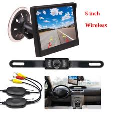"5"" HD Car Auto on Parking Monitor IR Night Vision Wireless Reverse Backup Camera"