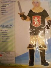 CHILDRENS BOYS YELLOW  KNIGHT OUTFIT FANCY DRESS BOOK DAY COSTUME AGE 4-6