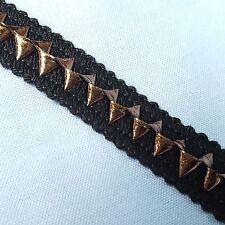 Black Foil Chocolate Gimp Braid Trim Tape Upholstery Costume Embellishment TR060