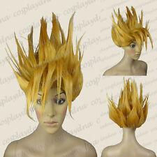 Goku Saiyan Gold Cosplay Wigs Anime Dragon Ball Wigs (fits adult and kid) A2