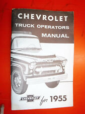 CHEVROLET 1955 Truck Owner/'s Manual-2nd Series 55