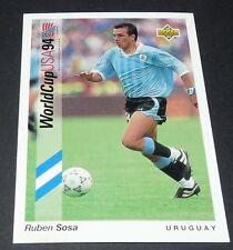 RUBEN SOSA INTER URUGUAY FOOTBALL CARD UPPER DECK USA 94 PANINI 1994 WM94