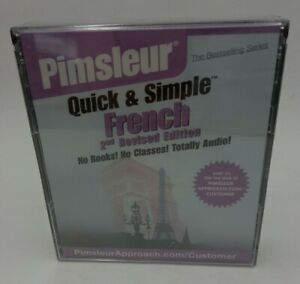 Pimsleur Quick and Simple French 2nd Revised Edition Audio CD set Manual
