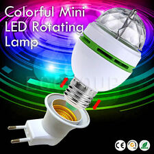 3W E27 RGB Crystal Ball Auto Rotating LED Stage Light Bulb Disco Party Bulb Lamp