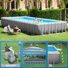 Intex 975 x 488 x 132cm Swimming Pool Rechteck Stahlwand Frame Schwimmbad 26372