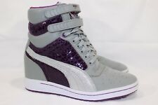 "PUMA CONTACT ""SKY WEDGE"" FASHION SNEAKERS WOMEN'S SIZE 8 METAL/PURPLE # 35634202"
