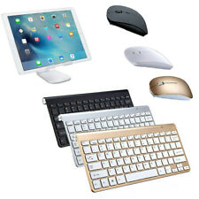 US Wireless Portable Keyboard Ultra Slim With Mouse for Apple iMac/Laptop/PC