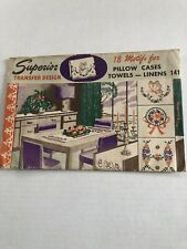 Vtg Superior Transfer Hot-Iron Embroidery Pattern #141 Unused