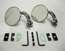 "CHROME 3"" Universal Door Edge Peep Mirrors w/ Short Arm Retro Street Rod PAIR"