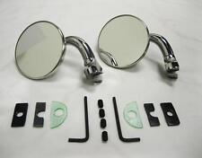 "CHROME 3"" Universal Door Edge Peep Mirrors w/ Short Arm Retro Street Rod PAIR"