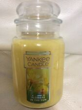 Yankee Candle Flowers in the Sun Large Jar 22oz NEW Bright Yellow Free Shipping