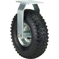 Ironton 10in. Rigid Pneumatic Caster - 300-Lb. Capacity, Knobby Tread