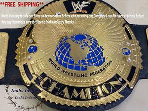 WWF BIG EAGLE World Heavyweight Championship Wrestling Belt 4mm Zinc Plates