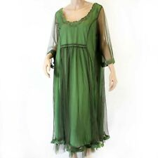 Hopeless Romantic by Nataya Vintage Green Party Gown Dress Slip Set Large