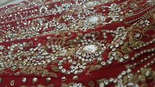 Beautiful Stunning Indian Asian Bridal Red Wedding Lengha Dress Outfit