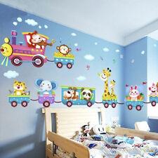 Animal Wall Sticker Monkey Giraffe Tree Train Nursery Baby Kids Room Decors A33C