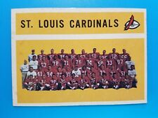 1960 TOPPS FOOTBALL #112 ST LOUIS CARDINALS TEAM  UNMARKED EX+