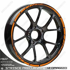 ADHESIVE PROFILES WHEELS RIM STICKERS  GILERA NEXUS 300 500 ORANGE