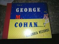 """Set 4 10"""" 78RPM Musical Songs of George M. Cohan Columbia Records Over There"""