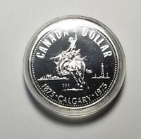 Canada 1975 Calgary Stampede Silver $1.00 One Dollar Coin Specimen