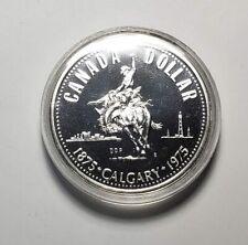 Canada 1975 Calgary Stampede Silver $1.00 One Dollar Coin Specimen