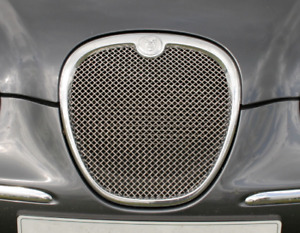 Genuine Jaguar S-Type 2004-2007 Stainless Steel Woven Mesh Grille Insert