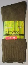 3 PRS MENS SZ 6-11 AUST MADE 95 THICK LONG KHAKI BAMBOO WORK/HIKING SOCKS
