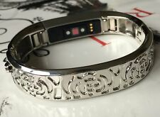 Silver Metal Band for Fitbit Alta HR Activity Tracker Jewerly Bracelet