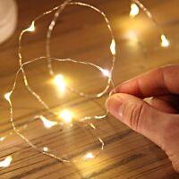 Micro LED Draht Lichterkette mit 10 LED′s, warmwei?, Batteriebetrieb, Tischdeko/